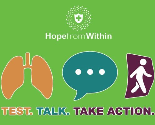 Test, Talk, Take Action is a national awareness campaign designed to encourage those impacted by non-small cell lung cancer (NSCLC) to make informed treatment decisions by learning about biomarkers and talking with their health care provider about testing for biomarkers
